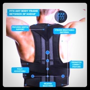 Back and shoulder posture and lumbar support brace